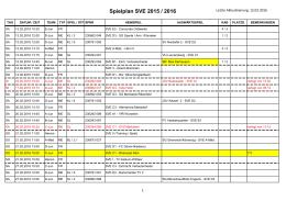 Spielplan SVE 2015 / 2016
