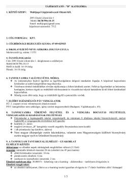 B kategória - multijogsi.hu