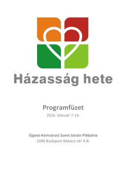 Programfüzet - Újpest- Kertvárosi Szent István Plébánia