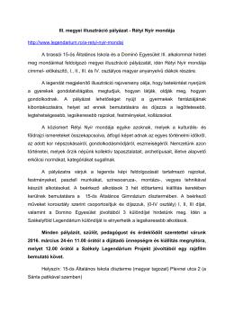 III. megyei illusztráció pályázat - Rétyi Nyír mondája http://www