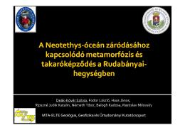 A Neotethys-óceán záródásához kapcsolódó metamorfózis