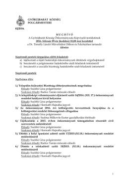 Meghívó - Győrújbarát