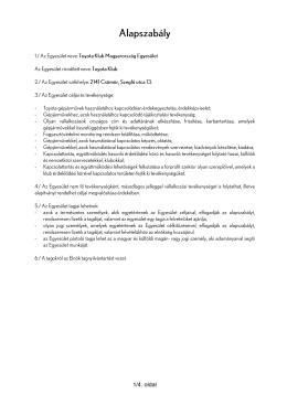 1/4. oldal - Toyota Klub Magyarország Egyesület