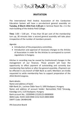 invitation - Nemzetközi Pető Intézet