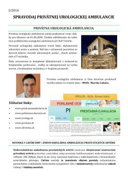 spravodaj privátnej urologickej ambulancie