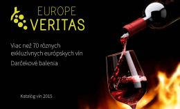 Stiahnuť katalóg - europeveritas.com
