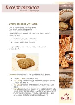 Ovsené cookies s OAT LOVE