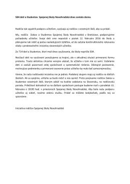 Vyzva 181 KB - Iniciatíva slovenských učiteľov
