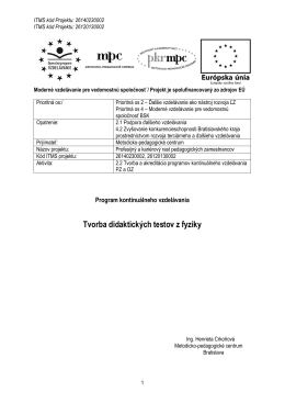 Tvorba didaktických testov z fyziky