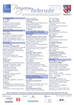 Program na február 2016