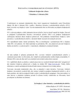 štrajkový výbor Iniciatívy vysokoškolských učiteľov