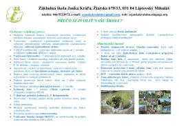 Základná škola Janka Kráľa, Žiarska 679/13, 031 04 Liptovský