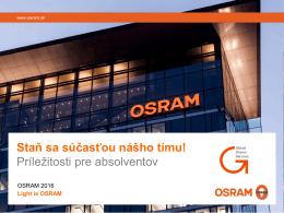 Prečo OSRAM?