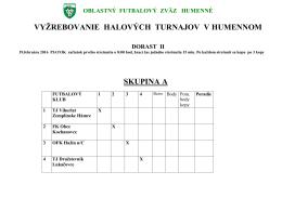 k stiahnutiu TU - Oblastný futbalový zväz Humenné