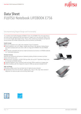 Data Sheet FUJITSU Notebook LIFEBOOK E756