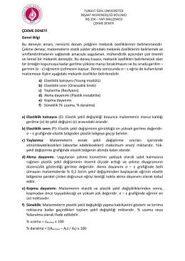 çekme deneyi föyü - Turgut Özal Üniversitesi