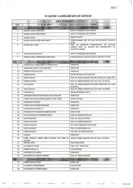 EK-3 D GRUBU CAMiLERi KiTAP LiSTESi