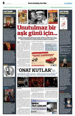 ONAT KuTLAR`ın - Gazete Kadıköy