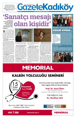 sanat evine… - Gazete Kadıköy