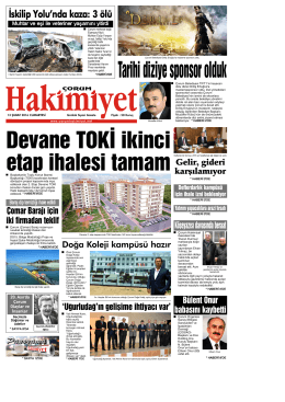 13 \376ubat.qxd - Çorum Hakimiyet Gazetesi