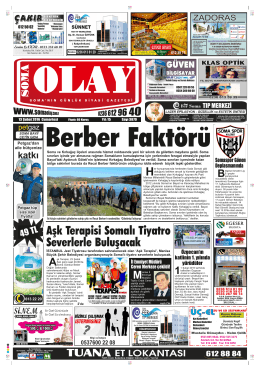 (3880) Cumartesi - Soma Olay Gazetesi