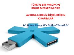 Haluk Nuray, İKV Brüksel Temsilcisi