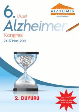 2. duyuru - Türkiye Alzheimer Derneği