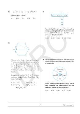 ygs matematik - geometri örnek denemeler