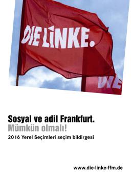 Sosyal ve adil Frankfurt. Mümkün olmalı!