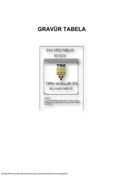 gravür tabela