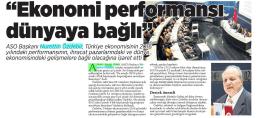 ASO Başkanı Nurettin Ozdebir, Türkiye ekonomisinin 2&16 yılındaki