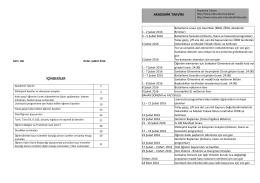 içindekiler akademik takvim