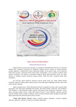 Haber Bülteni için tıklayınız... - İzmir İl Milli Eğitim Müdürlüğü