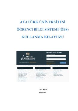 OBS Kullanım Kılavuzları - Öğrenci Bilgi Sistemi