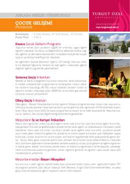 çocuk gelişimi - Ankara Meslek Yüksekokulu