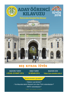 Sınav Broşürü – Türkçe - İstanbul Üniversitesi