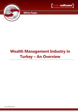 Wealth Management Industry in Turkey – An Overview
