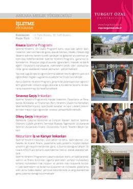 işletme - Ankara Meslek Yüksekokulu