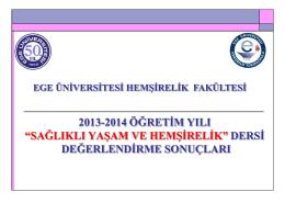 Slayt 1 - Ege Üniversitesi