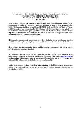 buraya - Atlas Portföy Yönetimi A.Ş.