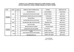 sakarya 75.yıl cumhuriyet mesleki ve teknik anadolu lisesi 2015
