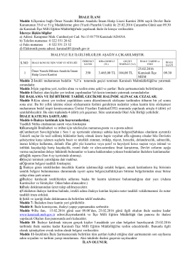 ihale ilanı - Karaisalı İlçe Milli Eğitim Müdürlüğü