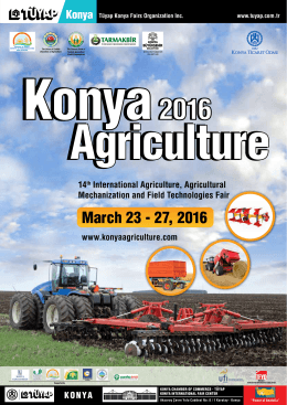 March 23 - 27, 2016 - konya agriculture