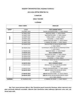 başkent üniversitesi özel ayşeabla ilkokulu 2015