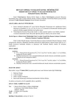 devlet opera ve balesi genel müdürlüğü