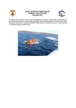 07 Şubat 2016 - Sahil Güvenlik Komutanlığı