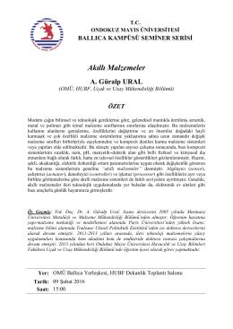 Akıllı Malzemeler - Havacılık ve Uzay Bilimleri Fakültesi
