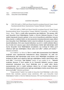 Karayolları Genel Müdürlüğü - Tapu ve Kadastro Genel Müdürlüğü