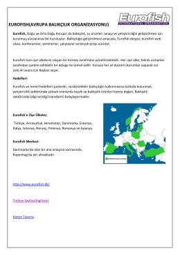 eurofısh(avrupa balıkçılık organizasyonu)