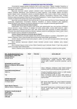 çeşitli ilanlar - euygulama.dpb.gov.tr